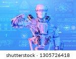 modern ai humanoid robot cyborg ...