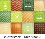 set of coffee beans seamless... | Shutterstock .eps vector #1305735088
