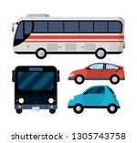 public transport vehicles | Shutterstock .eps vector #1305743758