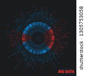 big data circular visualization.... | Shutterstock .eps vector #1305753058