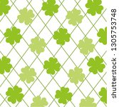 wallpaper four leaf clover | Shutterstock .eps vector #1305753748