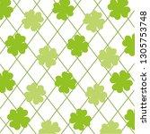 wallpaper four leaf clover | Shutterstock .eps vector #1305753748