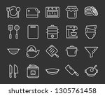 set of kitchen tools icons ... | Shutterstock .eps vector #1305761458