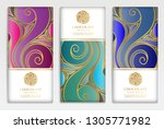 colorful packaging design of... | Shutterstock .eps vector #1305771982