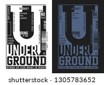 underground typography... | Shutterstock .eps vector #1305783652