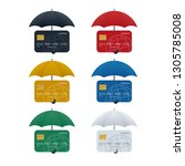 credit card protection concept  ... | Shutterstock .eps vector #1305785008