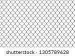 chain link fence. seamless... | Shutterstock .eps vector #1305789628