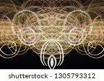 abstract symmetrical... | Shutterstock . vector #1305793312