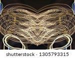 abstract symmetrical... | Shutterstock . vector #1305793315