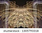 abstract symmetrical... | Shutterstock . vector #1305793318