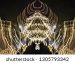 abstract symmetrical... | Shutterstock . vector #1305793342