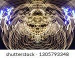 abstract symmetrical... | Shutterstock . vector #1305793348