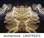 abstract symmetrical... | Shutterstock . vector #1305793372