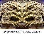 abstract symmetrical... | Shutterstock . vector #1305793375