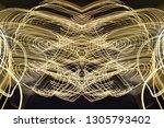 abstract symmetrical... | Shutterstock . vector #1305793402