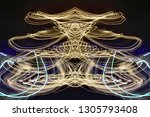 abstract symmetrical... | Shutterstock . vector #1305793408