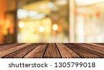 old vintage brown wood tabletop ...   Shutterstock . vector #1305799018