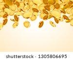 falling coins  falling money ... | Shutterstock .eps vector #1305806695