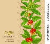 coffee vector background   Shutterstock .eps vector #1305832132