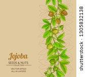 jojoba vector background   Shutterstock .eps vector #1305832138