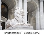 Stone Lions At Entrance To The...