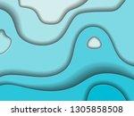 paper cut background. | Shutterstock .eps vector #1305858508