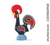 barcelos portuguese rooster.... | Shutterstock .eps vector #1305860968