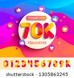 set of numbers for thanks... | Shutterstock .eps vector #1305863245