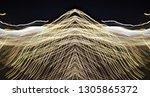 abstract symmetrical... | Shutterstock . vector #1305865372