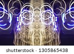abstract symmetrical... | Shutterstock . vector #1305865438