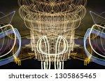abstract symmetrical... | Shutterstock . vector #1305865465