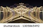 abstract symmetrical... | Shutterstock . vector #1305865492