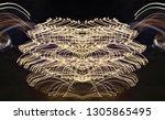 abstract symmetrical... | Shutterstock . vector #1305865495