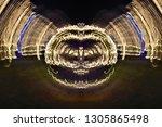abstract symmetrical... | Shutterstock . vector #1305865498