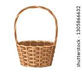 wicker basket vector... | Shutterstock .eps vector #1305866632
