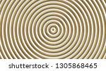golden concentric circles... | Shutterstock .eps vector #1305868465