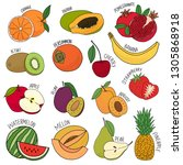 vector isolated set of... | Shutterstock .eps vector #1305868918