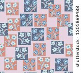 seamless pattern made up of...   Shutterstock .eps vector #1305869488