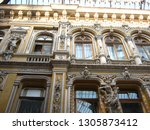 beautiful ancient architecture... | Shutterstock . vector #1305873412