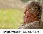 senior woman looking upset and...   Shutterstock . vector #1305874375