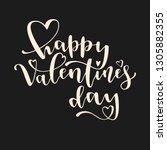 happy valentine's day creative... | Shutterstock .eps vector #1305882355