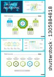 business inforgraphic design... | Shutterstock .eps vector #1305884818