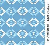 ethnic boho seamless pattern.... | Shutterstock .eps vector #1305891628