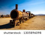 old rusty steam locomotives... | Shutterstock . vector #1305896098