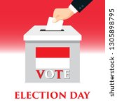 election day in indonesia with... | Shutterstock .eps vector #1305898795