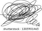 vector light set of hand drawn...   Shutterstock .eps vector #1305901465