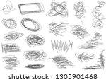 vector light set of hand drawn...   Shutterstock .eps vector #1305901468