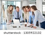 small group of business people... | Shutterstock . vector #1305922132