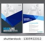 abstract vector modern flyers... | Shutterstock .eps vector #1305922312