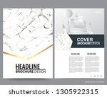 abstract vector modern flyers... | Shutterstock .eps vector #1305922315